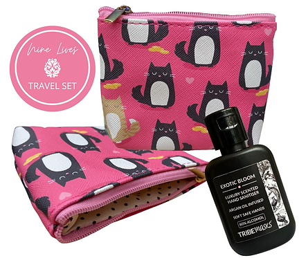 Nine Lives Cat Pouch And Sanitiser