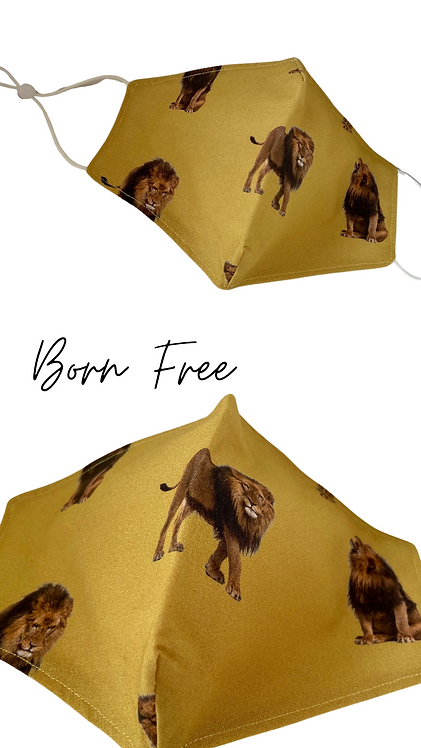 Born Free Children's Face Mask Made In Uk Free Post
