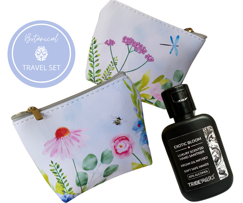 Tribemasks hand sanitiser and face mask travel pouch