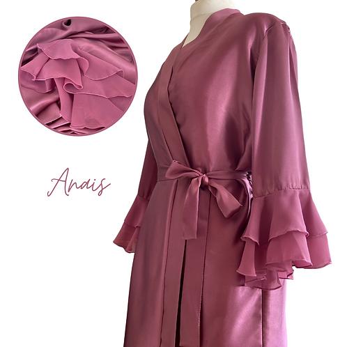 Anais Satin Dressing Gown/Robe