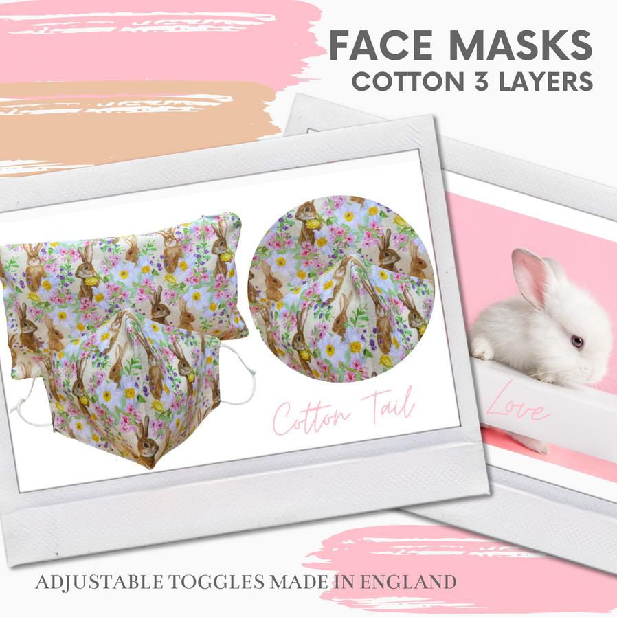 Face mask travels sets face masks UK rabbit face mask