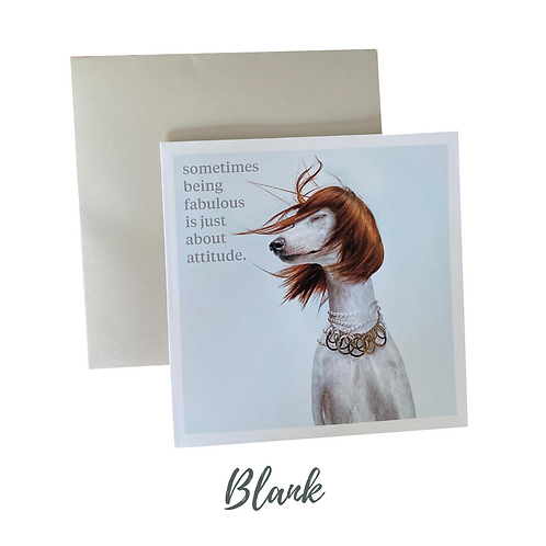 Being Fabulous Greetings Card UK Free Post