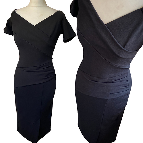Elise Black Fitted  Dress
