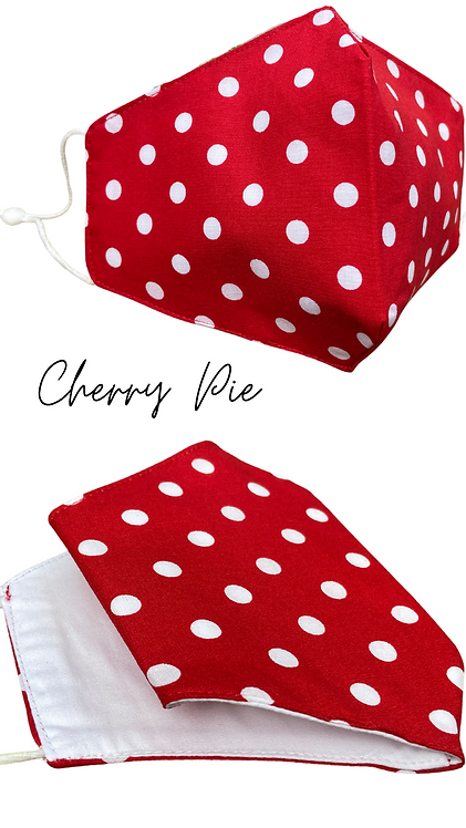 Cherry Pie Face Mask  UK Free Post