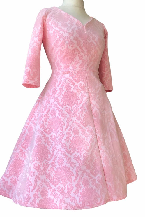 Mabel Pink Flock Dress