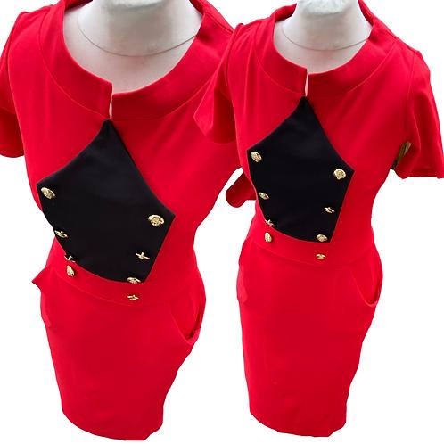 Bridgette 2 Tone Fitted Dress