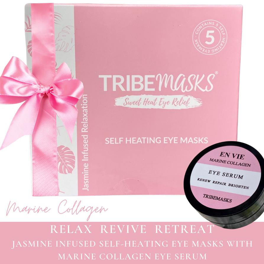Marine collagen self-heating eye masks r
