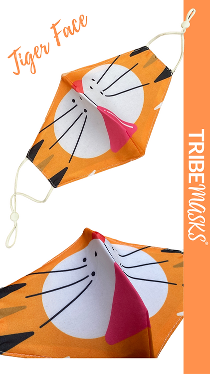 Tiger Face Adult Face Mask Free Post