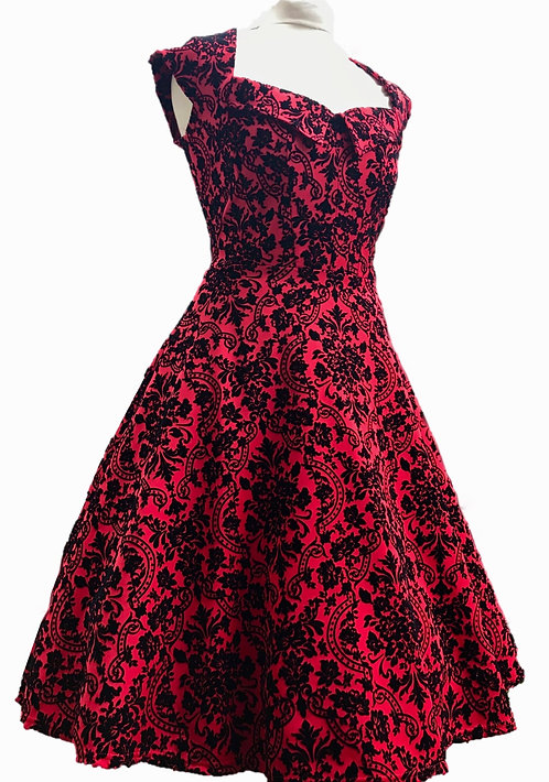 Cranberry Flock Dress Made In England