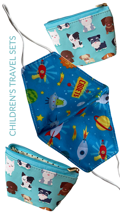 Children's Space Cadet Face Mask And Travel Pouch