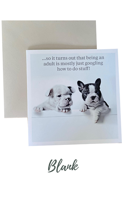 French Bull Dog Greetings Card UK Free Post
