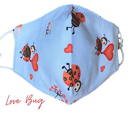 Love Bug Face Mask  UK Free Post