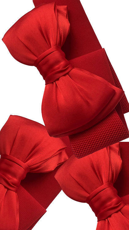 Red Bow Belt