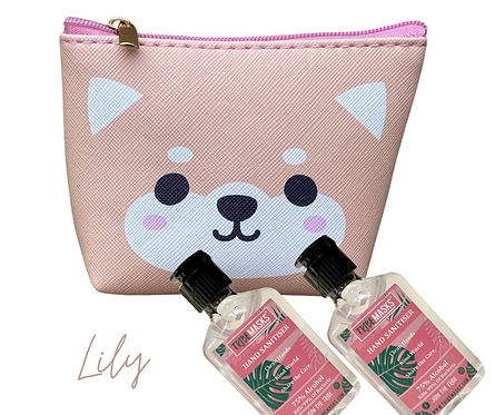 Lily Sanitiser  Travel Pouch
