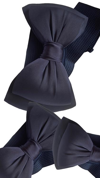 Navy  Bow Belt