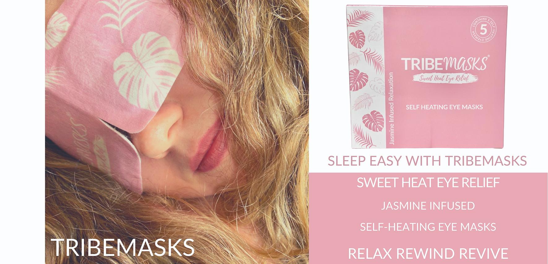 Tribemasks self-heating eye masks