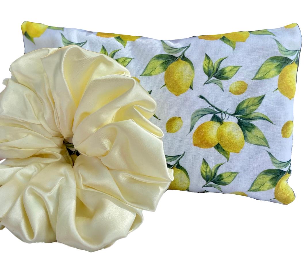 Limoncello sleep mask scrunchie set