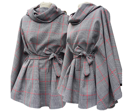 Glencoe Plaid Cowl Neck Cape
