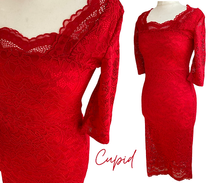 Cupid Red Lace Dress