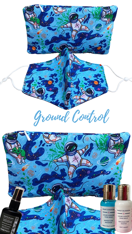 Ground Control Adult Face Mask Travel Set