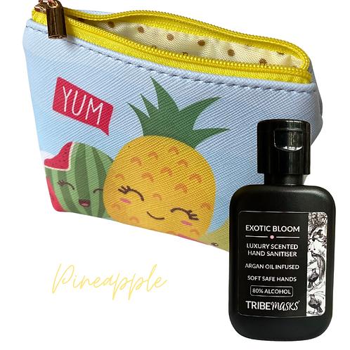 Pineapple Sanitiser Travel Pouch