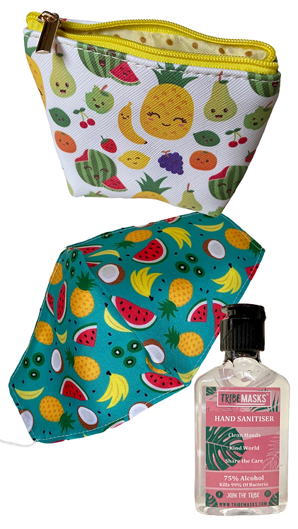 Fruit Face Mask Sanitiser & Carry Pouch
