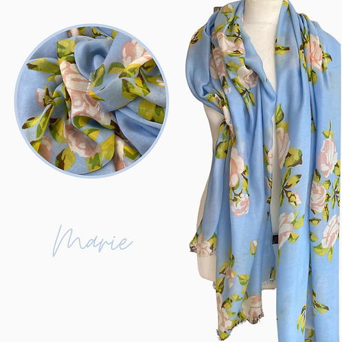 Marie Roses Cotton Mix Scarf
