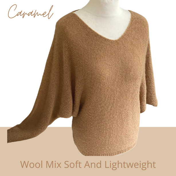 Caramel wool jumper
