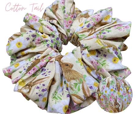 Cotton Tail Luxury Scrunchie  UK Free Post