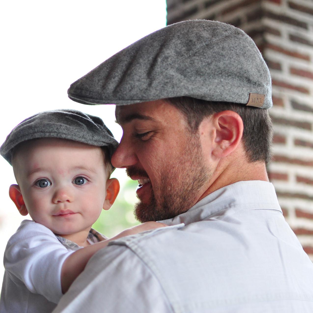 Father Son Grey Heather