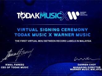Todak Music Jalin Kerjasama Dengan Warner Music Malaysia