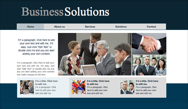 Business website templates wix 11 business website templates business services accmission Images