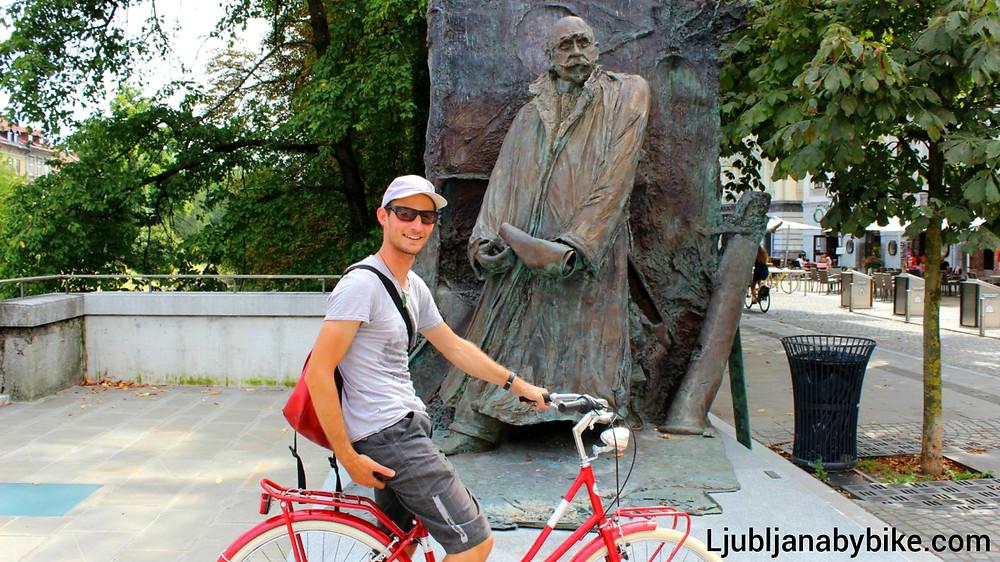 Statue of Ivan Hribar in Ljubljana.