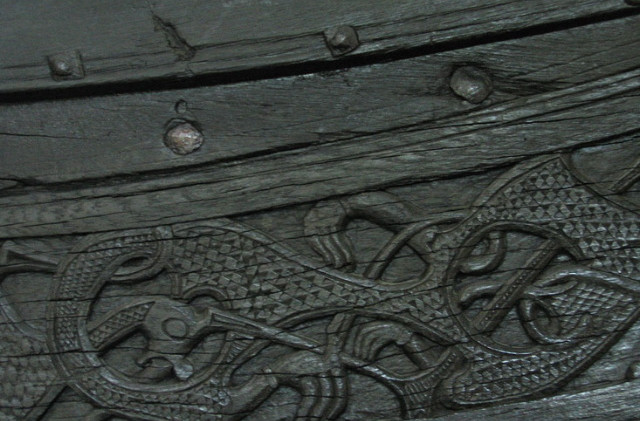 Viking Longboat Carving