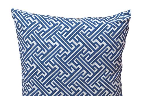 Cobalt Trellis Pillow