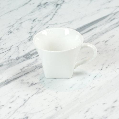 White Square Flare Cup