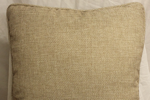 Taupe Burlap with Welt Cord