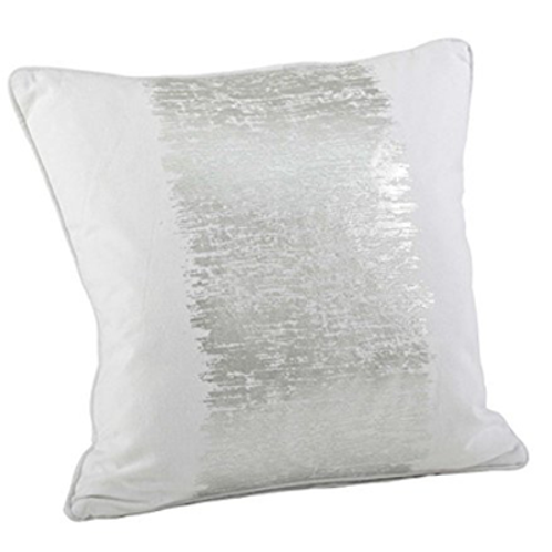 Metallic Silver Banded Pillow