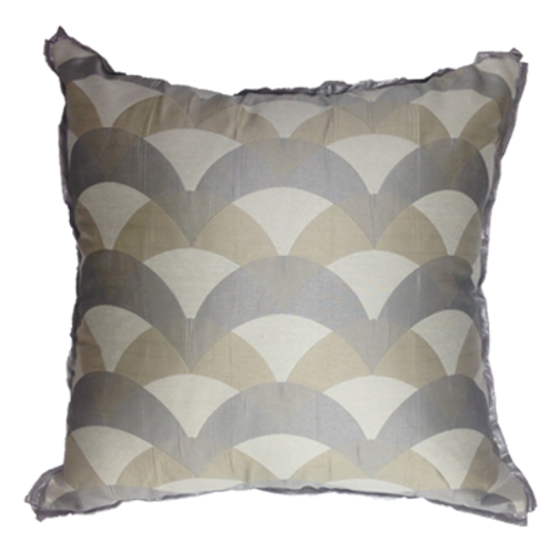 Metallic Geometric Pillow