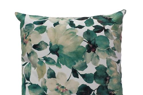 Aqua Floral Velvet