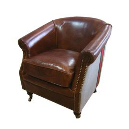 Alastair Leather and Canvas Chair