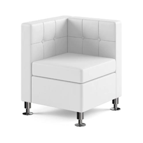 Modular White Leather Corner