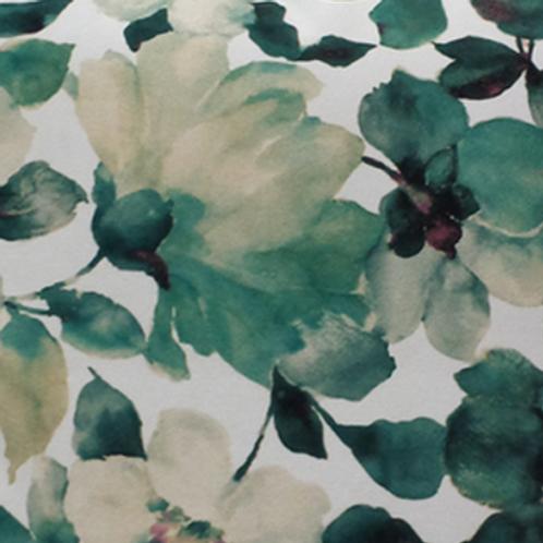 Floral Velvet Aqua