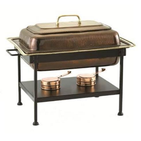 Rectangular Copper Chafing Dish
