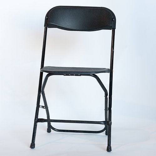 Basic Black Folding Chair