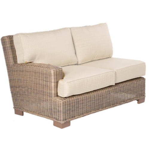 Palmetto Rattan Loveseat Right End