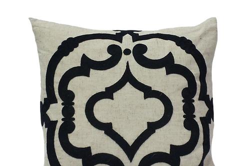 Lourdes Navy Pillow