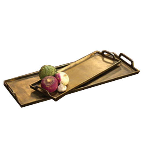 Antique Brass Tray, Large