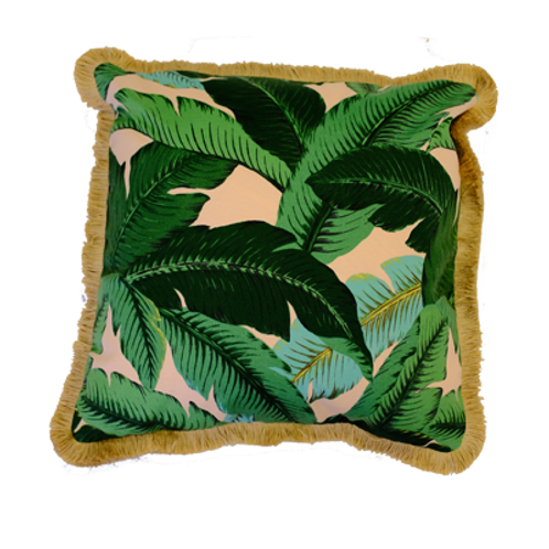 Isla Pink Fringe Pillow