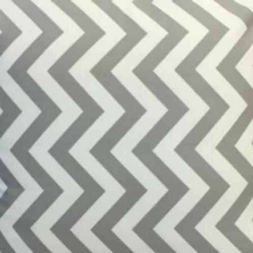 Grey & White Zigzag